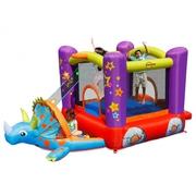 Happy Hop Dino party skákací hrad s míčky, trampolína dinosaurus