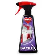 DEDRA Hygienický čistič hladkých povrchů s vysokým obsahem alkoholu BACILEX, ovocná květinová vůně, 500 ml