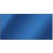 Skleněný topný panel 750 W, hliníkový rám lesklý